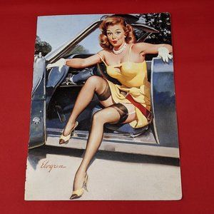 Vintage Gil Elvgren Double Sided Pin-Up Print 6x9